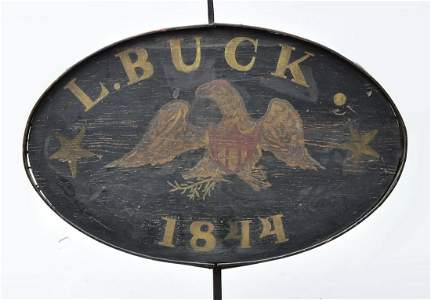 American Folk Art Two-Sided  Trade Sign