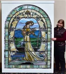 attributed to John La Farge Leaded Glass Window