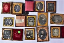 Group of Eleven Daguerreotypes