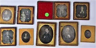 Group of Fourteen Daguerreotypes