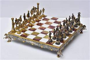 Italian Bronze Chess Set