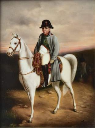 KPM Porcelain Plaque of Napoleon