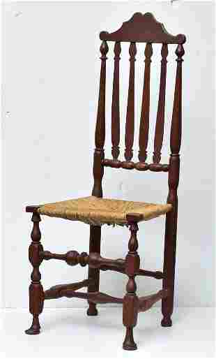 Queen Anne Bannister Back Side Chair