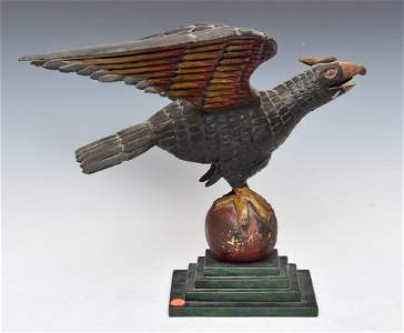 Folk Art  Carved and Polychromed  Eagle