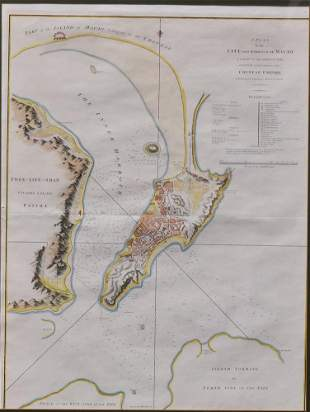 Map of City and Harbour of Macau