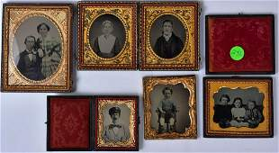 Six Ambrotypes including Children