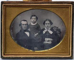 Quarter Plate Daguerreotype, Family Group