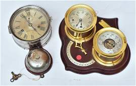 Chelsea Ship's Bell Clock and Barometer