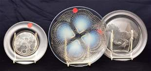 Lalique Clear Crystal Plates (3)