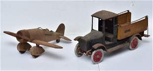 Buddy L Truck and Pressed Steel Plane