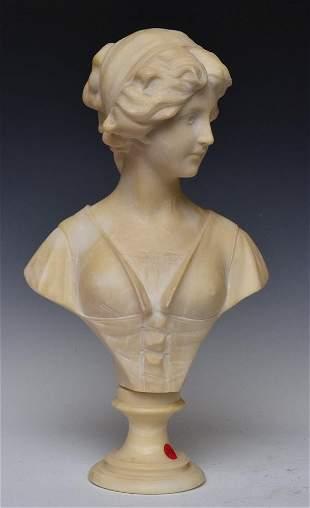 Adolfo Cipriani Alabaster Bust