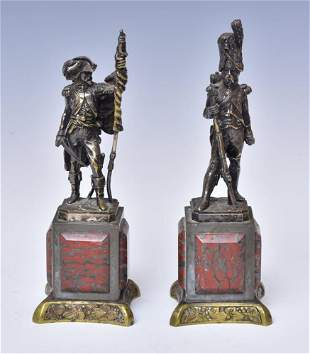 Two French Military Bronze Figures