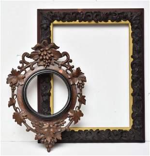 Two Black Forest Carved Frames