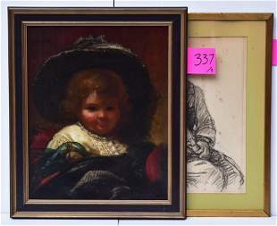 Two Art Works:  Ferdinand Boyle & American School