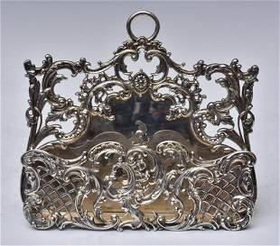 Victorian Sterling Silver Hanging Letter Rack