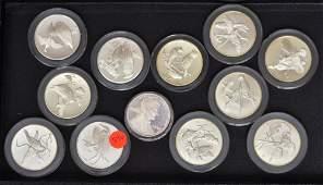 Franklin Mint Roberts Birds Silver Medallions (11)