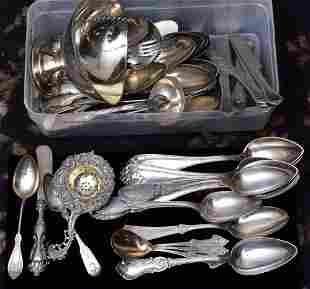 Group of .800 Silver Flatware
