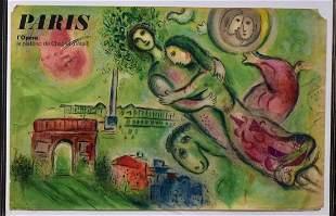Marc Chagall Paris Opera Poster