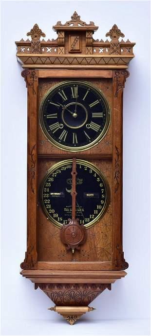"Ithaca ""Brisbane"" Calendar Clock"