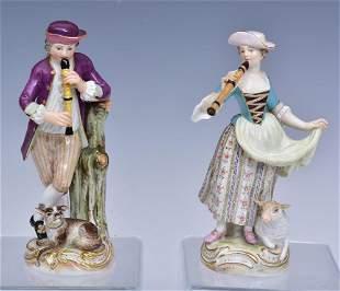 Meissen Pair of Porcelain Figures