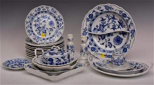 Meissen Blue Onion Serving Dishes and Plates