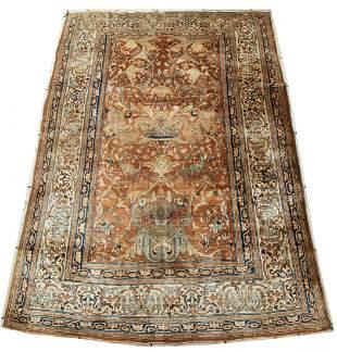 Persian Silk Pictorial Carpet