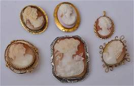 Cameo Brooches (6)