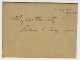 John Singer Sargent Signature