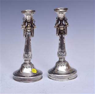 Egyptian Silver Candlesticks