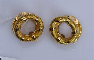 French 18k Gold Cuff Links