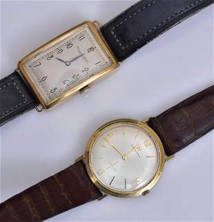 Two 14k Gold Gent's Wrist Watches