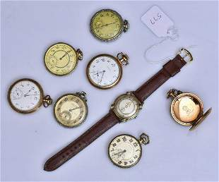 Pocket Watches and Wrist Watch