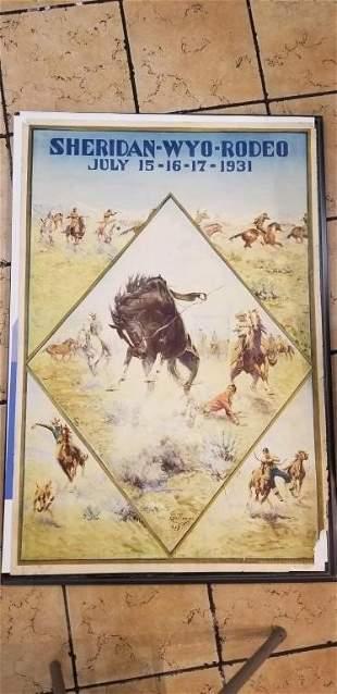 Sheridan Wyoming Rodeo Poster