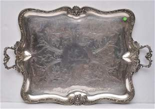 Fine French Silver Plated Serving Tray