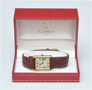 Must De Cartier Ladies Tank Wrist Watch