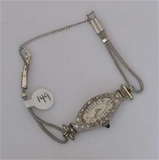 Platinum Diamond Ladies Wrist Watch