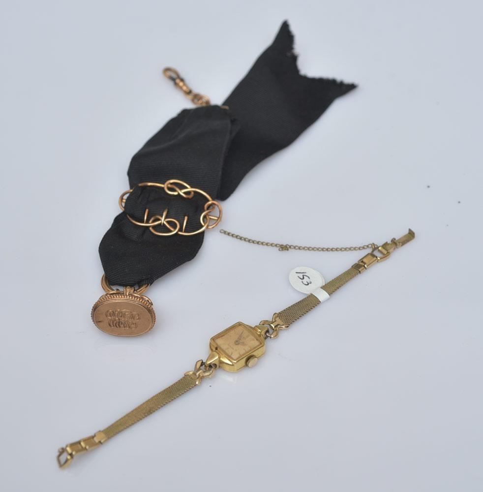 18k Gold Omega Ladies Wrist Watch