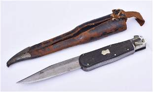 English Folding Bowie Knife