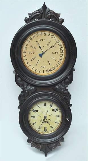 L.F. & W.W. Carter Calendar Clock