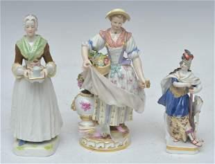 Three Meissen Porcelain Figures
