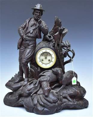 Black Forest Carved Figural Clock