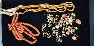 Victorian Coral Jewelry Elements