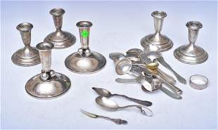 Sterling Silver Flatware and Candlesticks