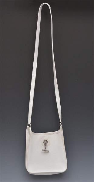 Hermes White Leather Mini Handbag