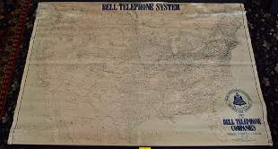 Bell Telephone Systems Map, 1909