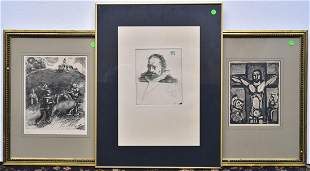 Chagall, Rouault and Baskin Prints