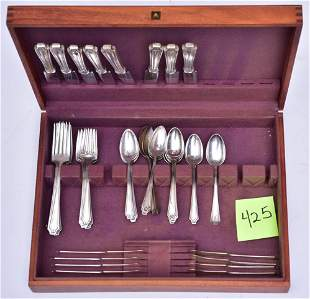 Whiting Sterling Silver Flatware Set