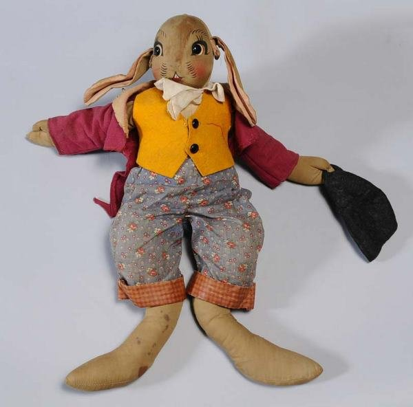 "2: PETER RABBIT STUFFED TOY cloth, 19"" high circa 1940"