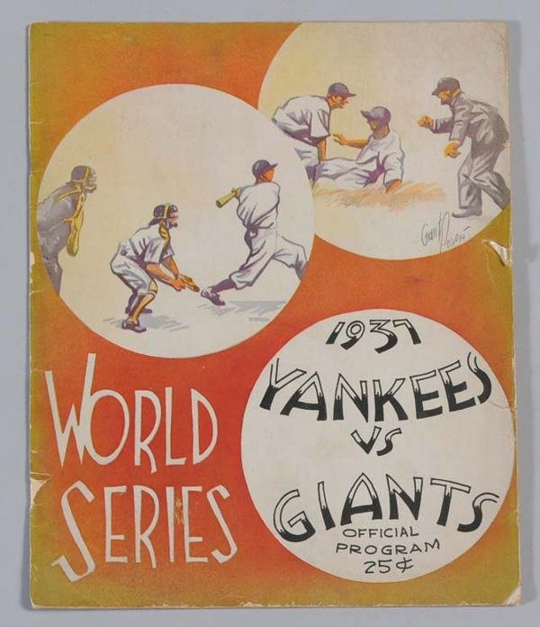 5: 1937 WORLD'S SERIES PROGRAM