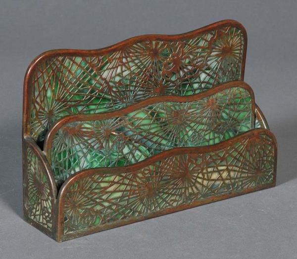 "23: TIFFANY STUDIOS PINE NEEDLE LETTER RACK #1008, 10""x"